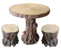 tree stump furniture ideas. Unique Tree Stump Table Design With Chairs For Your Vintage Furniture Ideas C