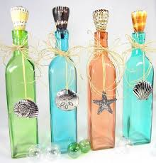 How To Decorate With Colored Glass Bottles Decorate Colored Glass Bottles Amazing Nautical Decorating 2