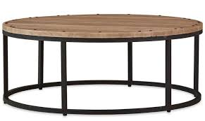 bramble 25729 vintage oak urban round coffee table solid wood special order special order