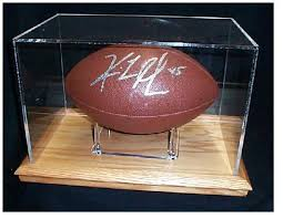 glass football display case amazing cases for autographed foot within 7 erenerduran com glass football display case