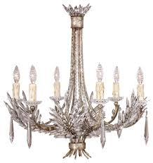 fine art lamps 302740 winter palace silver leaf 6 light chandelier traditional chandeliers