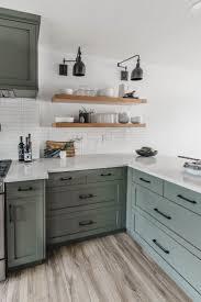 Light Wood Kitchen Cabinets Modern Modern Olive Green Kitchen Before After New Kitchen