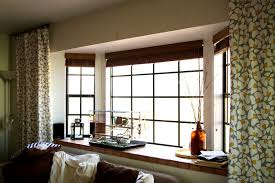 Fascinating Modern Window Treatments For Bay Windows Home Intuitive Wide  Ideas Curtains Black Blinds Design Curtain