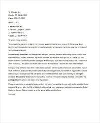 Letters Of Complaints Samples Complaint Letter Sample 31 Free Word Pdf Documents