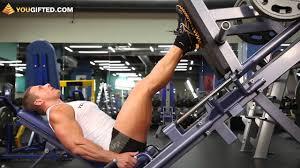 Упражнения для ног. Жим ногами. - YouTube