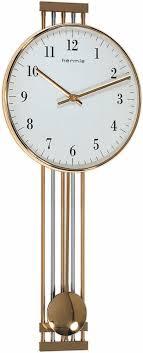 hermle highbury 70722 002200 brass pendulum wall clock