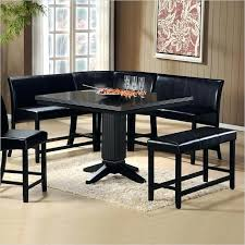 benches for dining room table impressive black 6 piece corner dining set oak benches for dining