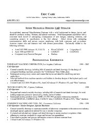 resumes for mechanical engineers mechanical engineer resume example