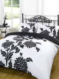 duvet quilt cover bedding set black white single double king super bed size measurements childrens covers