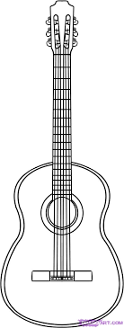 Double neck guitar world musical instruments coloring: Guitar Outline Clipartion Com