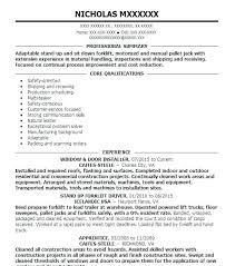 Forklift Operator Resume Examples Acepeople Co