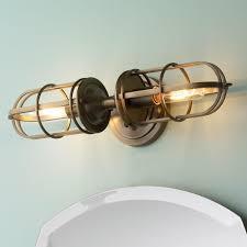nautical bathroom lights. Nautical Cage 2 Light Bath Light. Nice But Pricey. Does Use High Watt Bathroom Lights E