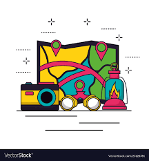 Camping Summer Related Vector Image On Vectorstock