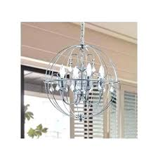 orb iron chandelier orb crystal iron chandelier image concept