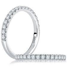 a jaffe wedding bands. 21 stone round \u201cempire legacy\u201d pave set diamond wedding band. $690.00; a. jaffe a bands