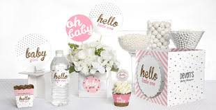 ... Hello Little One - Pink and Gold - Girl Baby Shower Theme