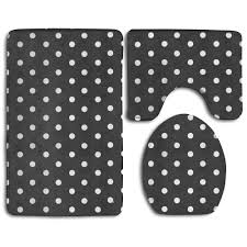 patterned bath rugs mats luxury black and white polka dot bath mat bathroom carpet rug