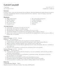 Sample General Manager Resume Restaurant General Manager Cover Letter Restaurant Manager Cover