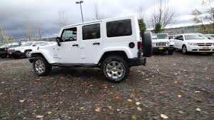 jeep wrangler unlimited white. 2017 jeep wrangler unlimited sahara bright white clearcoat hl516883 redmond seattle e