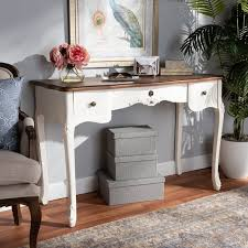 3 drawer wood sofa table delight