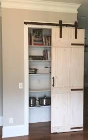 image of white style pantry barn doors