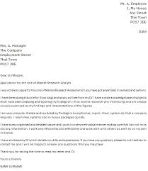 Market Research Analyst Cover Letter - Kleo.beachfix.co