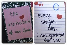 diy alphabet of love valentines day gift ideas diy gifts for boyfriend anniversary gift