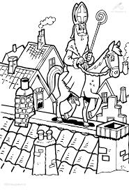 Kleurplaat Sinterklaas Onderwijs Sinterklaas Christmas In