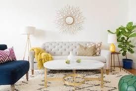 bright bold living room