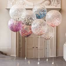 Decorating With Balloons Giant Rainbow Bright Confetti Filled Balloon Confetti Factors