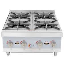 cooking performance group hp424 4 burner gas countertop range hot plate 88 000 btu