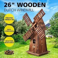 wooden garden windmill outdoor