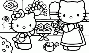 Small Picture Hello Kitty Coloring Pages Pdf Archives In Hello Kitty Coloring