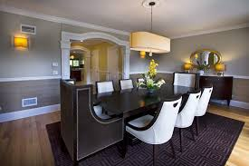 inspired chair rail ideas contemporary dining room