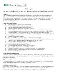 Accounts Payable Resume Summary 12 13 Accounts Receivable Resume Summary Lascazuelasphilly Com