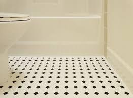 black and white bathroom flooring