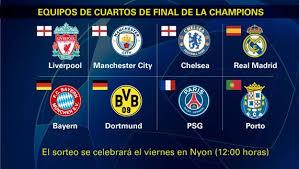 La final de la champions enfrenta dos filosofías. All Teams Qualified For The Quarterfinals Of The Champions League Football24 News English