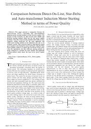 pdf parison between direct on line star delta and auto transformer induction motor starting method in terms of power quality