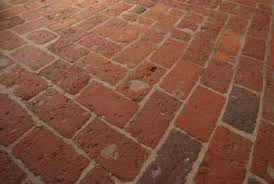 Brick floors hold up well in hot or wet rooms.