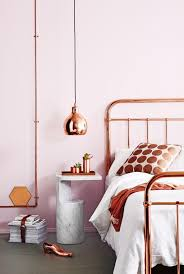 Copper A'La Mode Bedroom With Piping Accents