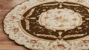 round area rugs contemporary rose aubusson sculpted intended for 7