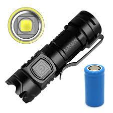 Đèn Pin Sst40 Led 1600 Lm Ipx6 Edc Mini Bỏ Túi Siêu Sáng Sạc Usb Tiện Dụng  Mang Theo Cắm Trại - Đèn & Đèn Pin