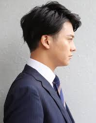 メンズ好印象社会人ビジネス刈り上げショート人気スーツ髪型ns 219