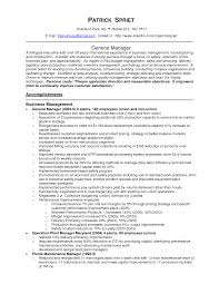 Operations Manager Management Executive Resumefacturing Project Pdf