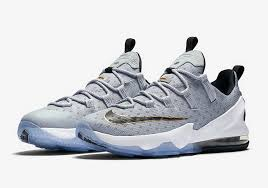 lebron low shoes. nike lebron 13 low shoes black gold white metallic cool grey hot 7