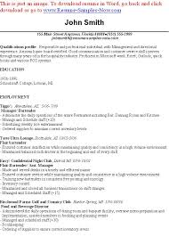 Nonsensical Bartending Resumes 14 Great Bartender Resumes - Resume