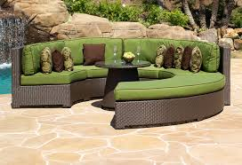 circular outdoor sectional kitchen gorgeous outdoor rounded sectional of com genuine ohana patio wicker furniture circular outdoor