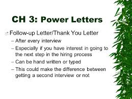 Guest Speaker Chapter 3 Correspondence Ch 3 Power Letters This