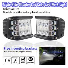 Truck Mounted Led Work Lights Us 20 53 18 Off 45w Cars Work Lights 4 Inch Three Side Strobe Led Off Road Light 3600lm Waterproof Driving Lights For Trucks Vehicles Led Bar In