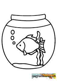 Small Picture Fish Bowl Picture Coloring Page Download Print Online Coloring